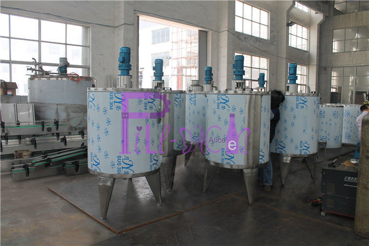 2000L Carbonated Drink Mixer Tank Soft Drink Processing Line With GMP Standard