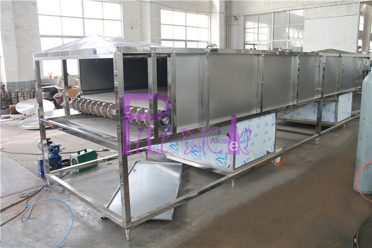 Sectionalized 500ml Bottle Packing Machine Sterilizer For Non Carbonated Beverage